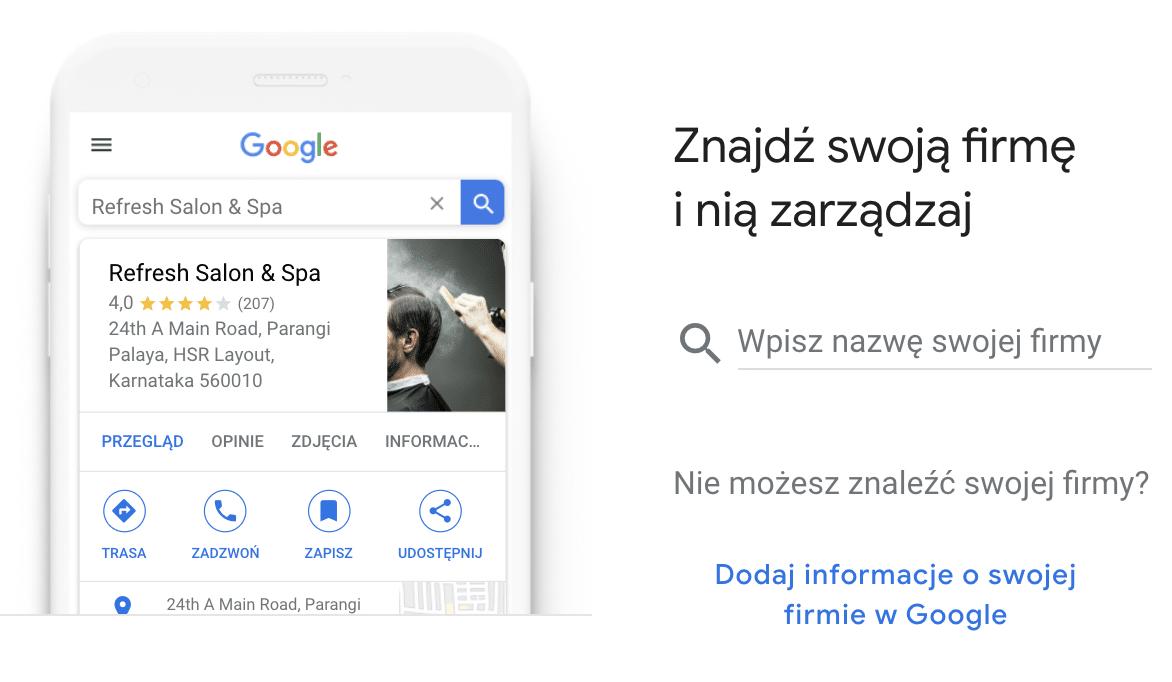 Formularz w Google Moja Firma krok po kroku